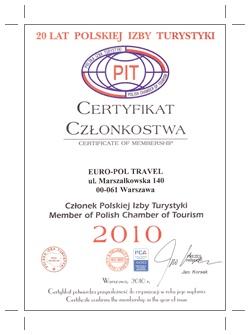Certyfikat członkostwa PIT
